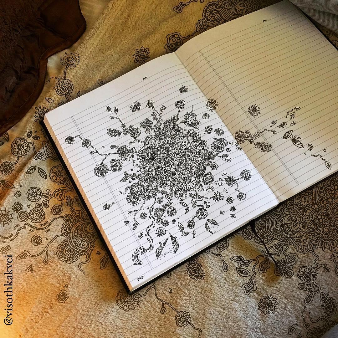 Les créations florales au feutre de Visothkakvei prennent vie