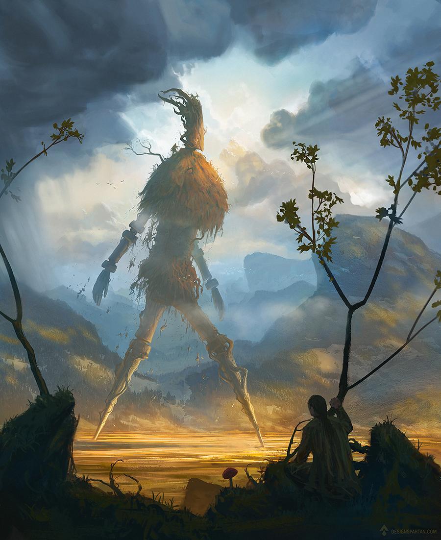 Vidéo : Speed painting d'un golem de fantasy par Spartan