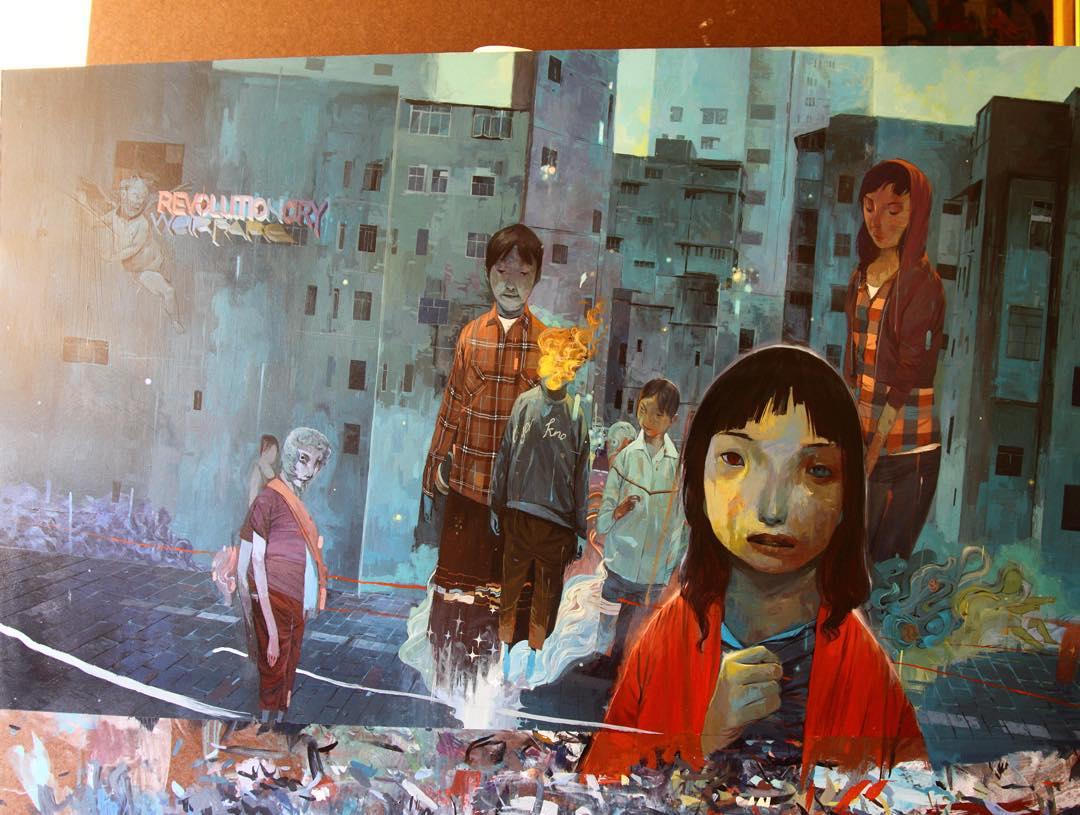 Les street arts magnifiques et originaux de Andrew Hem