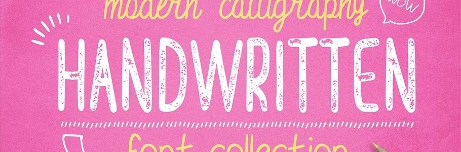 Une collection de Typographies manuscrites gratuites à télécharger
