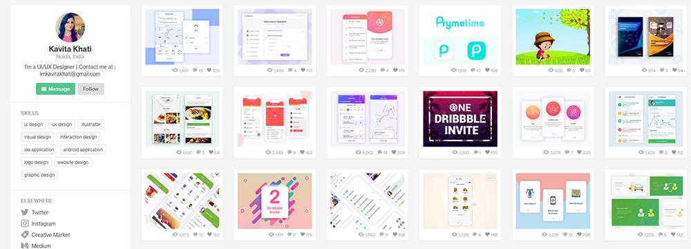 20 UI/UX designers à suivre sur Dribbble