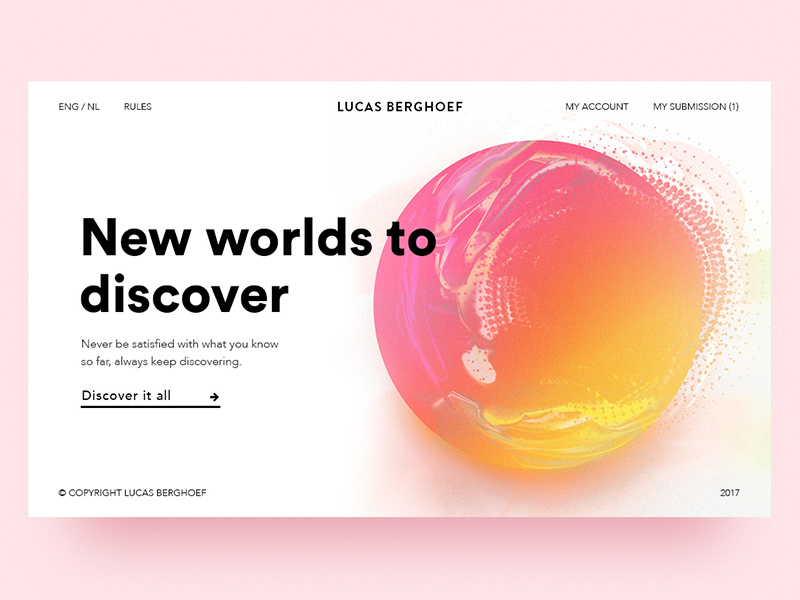 Lucas Berghoef, talentueux Webdesigner et Designer d'interface #32