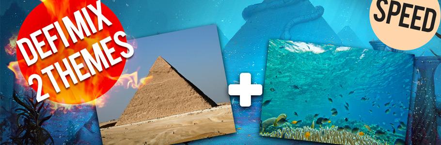 Vidéo : DÉFI - Mixer 2 thèmes en digital painting ! Pyramide + Fond marin