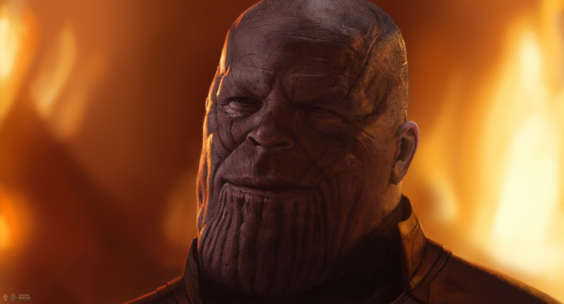 Tutoriel de digital painting : Comment peindre Thanos