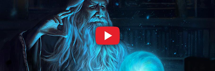 Vidéo : Digital painting d'un sorcier lançant un sortilège par Spartan