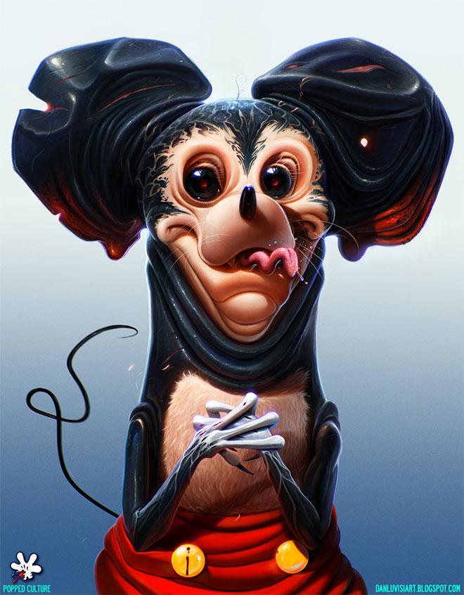 Quand les artistes ré-inventent les personnages de dessin animés les plus célèbres