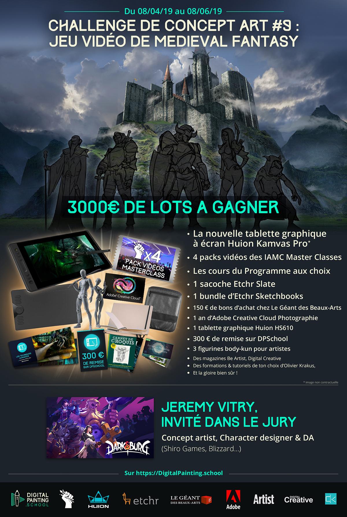 Challenge #9 de CONCEPT ART de fantasy avec 3000€ DE LOTS
