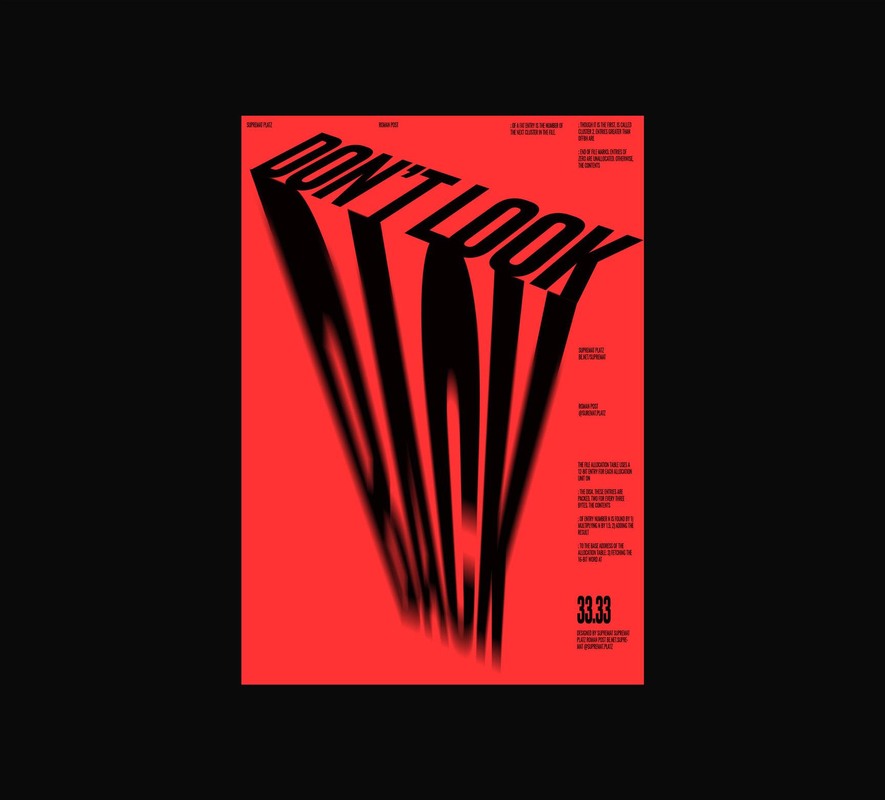 Les designs de poster de Roman Post