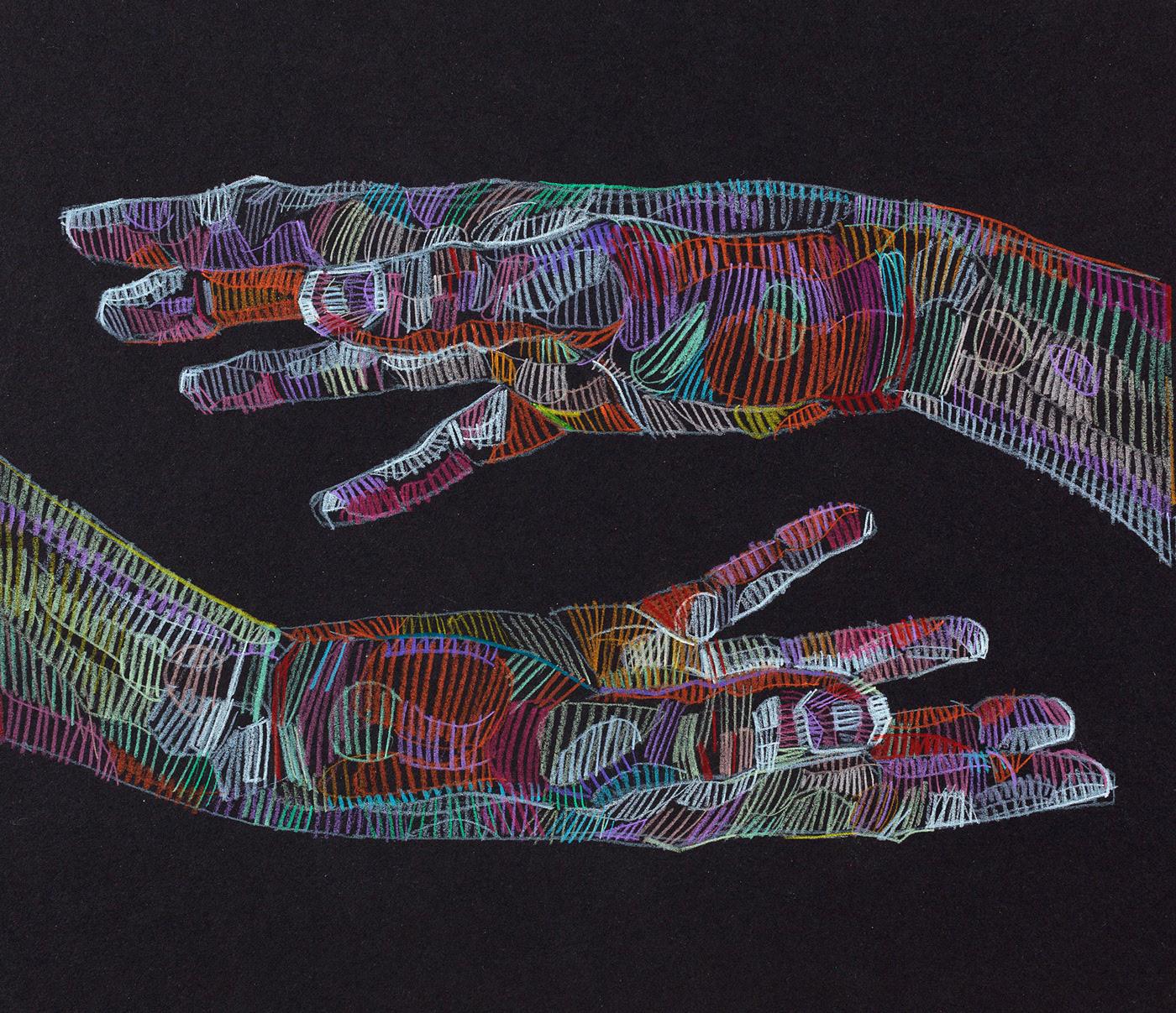 Les sublimes dessins aux crayons de couleur de Lui Ferreyra