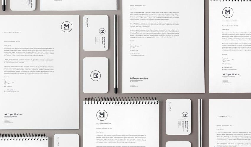 20 Mockups gratuits pour vos projets d'identité et de branding en PSD