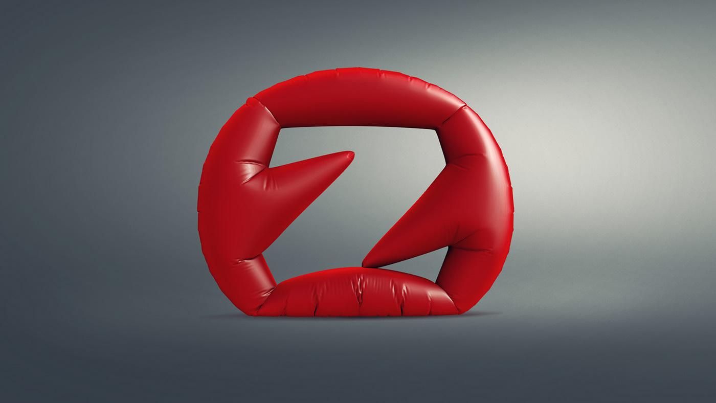 Typographie et 3D par Pavel Zertsikel