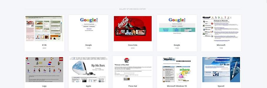 Webdesign Museum : si on revisitait l'histoire des tendances du web ?