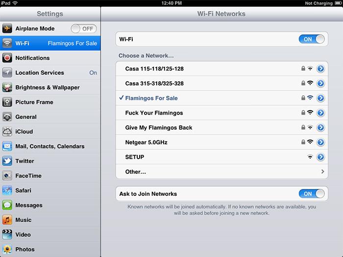 Des noms de réseaux Wifi plutôt inhabituels...