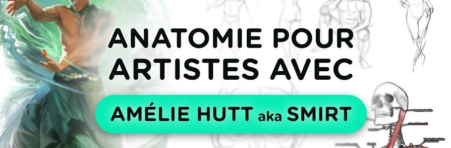 Vidéo : 1h30 d'anatomie pour artistes avec Amélie HUTT aka Smirt