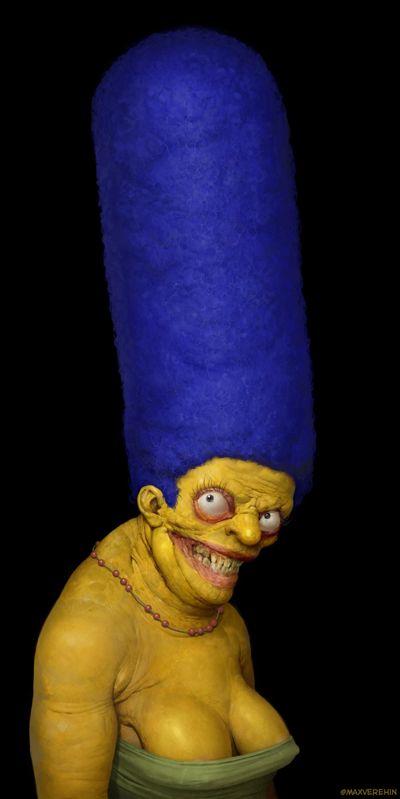 La famille Simpson comme vous ne l'avez jamais vu, par Maxime Verehin