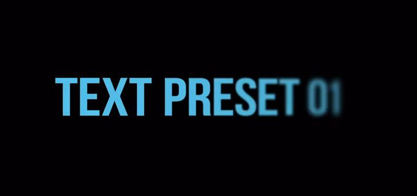 Les 30 meilleurs Presets gratuits pour After Effects