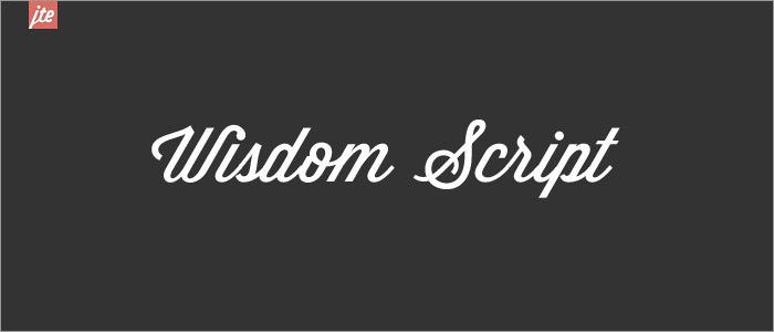 40 Typographies manuscrites gratuites toutes en courbes à télécharger